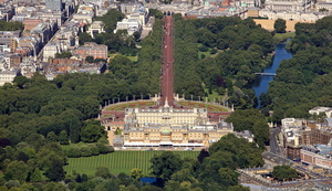 Buckingham Palace London England  from the air
