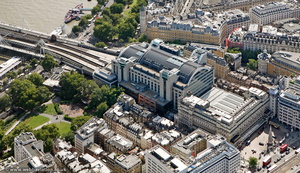 Charing Cross railway station London aerial photo
