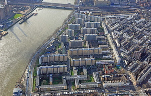 Churchill Gardens London  aerial photo