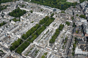 Eaton Square Belgravia London aerial photo