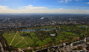 Hyde Park, London aerial photo