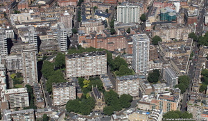 Hyde Park Estate  from the air