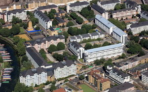 Lisson Green estate  from the air
