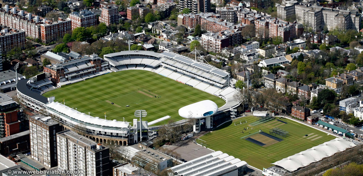 Lord's Cricket Ground aerial photo