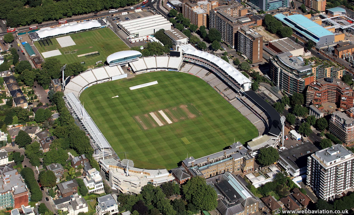Lord's Cricket Ground from the air