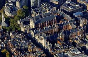 The Royal Courts of Justice London aerial photo