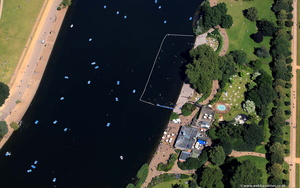 Serpentine Lido, Hyde Park  from the air