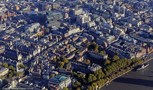 Temple, London aerial photo