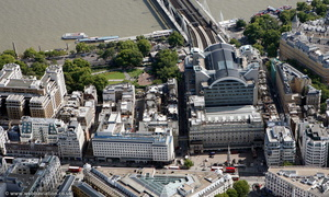 Charing Cross railway station aerial photo