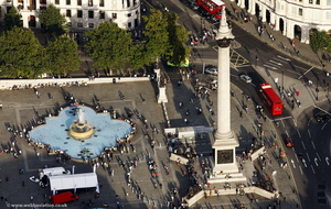 Nelson's Column Trafalgar Square aerial photo
