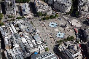 Trafalgar Square London  aerial photo