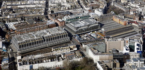 London Victoria station London aerial photo