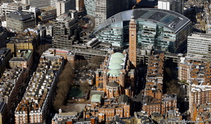 Westminster Cathedral  London aerial photo