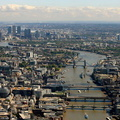 River Thames in London  aerial photo