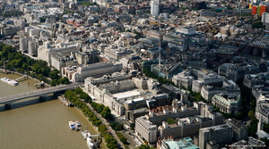 Victoria Embankment  London aerial photo
