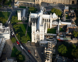Westminster Abbey London aerial photo