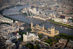 Westminster London England UK aerial photograph