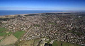 Formby Merseyside UK from the air