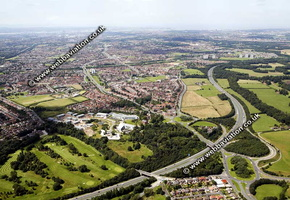 Kings Business Park Knowsley Merseyside aerial photograph