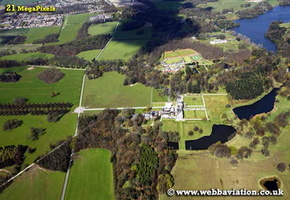 Knowsley Hall Knowsley Merseyside aerial photograph