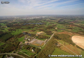 Knowsley Safari Park  Knowsley Merseyside aerial photograph