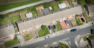 20 Forthlin Rd  Liverpool Merseyside UK childhood home of Paul McCartney  aerial photograph