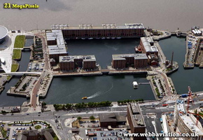 Albert Dock  Liverpool Merseyside UK aerial photograph