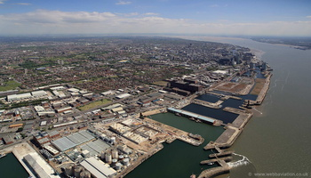 Bramley-Moore Dock Liverpool aerial photograph