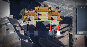 Chinese Arch Chinatown,  Liverpool  aerial photo