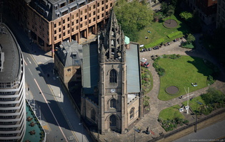 Church of Our Lady and Saint Nicholas  Liverpool  aerial photograph