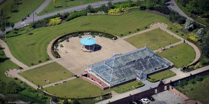 Gladstone Pavilion, Stanley Park, Liverpool. Liverpool   aerial photograph