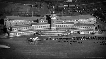 Liverpool Airport old terminal building aerial photograph