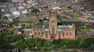 Liverpool Anglican Cathedral  aerial photograph