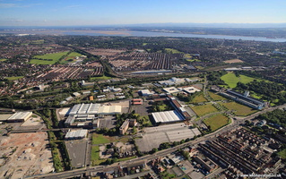 Liverpool Innovation Park on  aerial photograph
