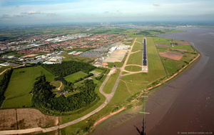 Liverpool John Lennon Airport aerial photograph