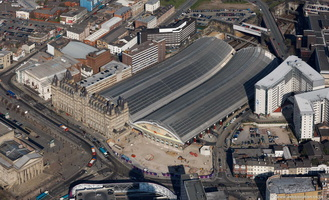 Liverpool Lime Street railway station aerial photograph