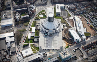 Liverpool Metropolitan Cathedral  aerial photograph