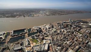 Liverpool city centre aerial photograph