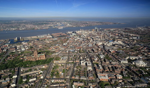 Liverpool from the south east aerial photograph