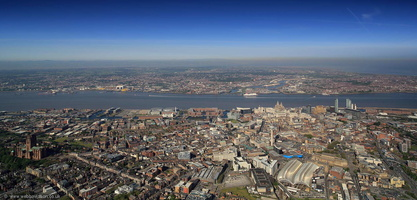 Liverpool panorama aerial photograph