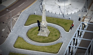 Memorial to the Engine Room Heroes of the Titanic  Liverpool   aerial photograph