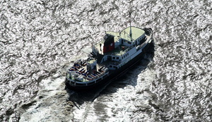 Mersey ferry Royal Daffodil  aerial photograph