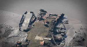 River Mersey Shipwrecks aerial photograph