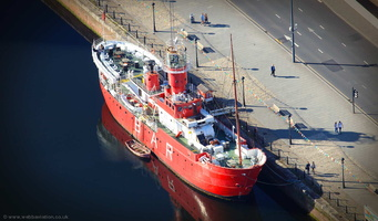 Planet light ship, Liverpool aerial photo