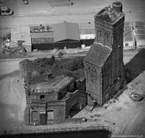 pump house on Liverpool Docks  aerial photograph