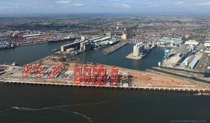 Seaforth Docks, Liverpool aerial photo