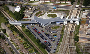 South Parkway Railway Station  Liverpool  aerial photograph