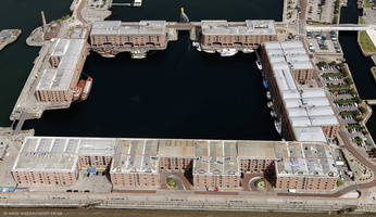 The Royal Albert Dock Liverpool aerial photograph