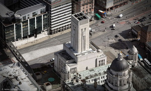 George's Dock Ventilation and Control Station, Pier Head  Liverpool  aerial photograph