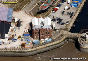 Liverpool Canal Link construction project Liverpool Merseyside UK aerial photograph